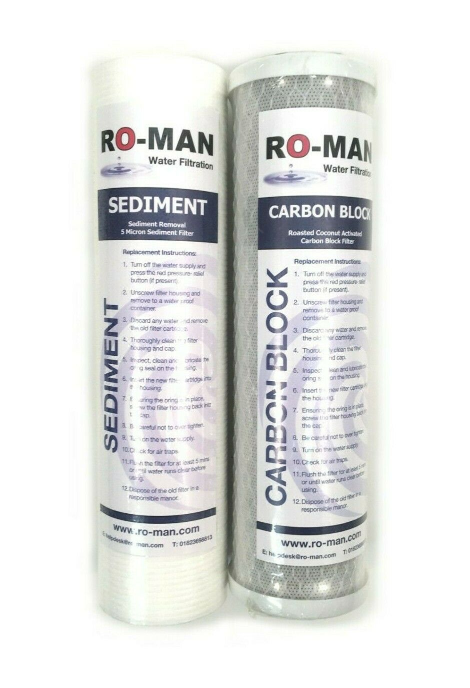 """3 Stage Reverse Osmosis Standard 10"""" Filter Set 