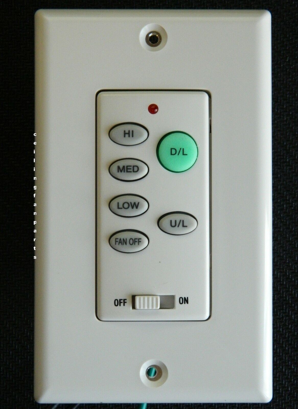 Ceiling Fan Remote Wall Control Uc 9050t With Up Light And