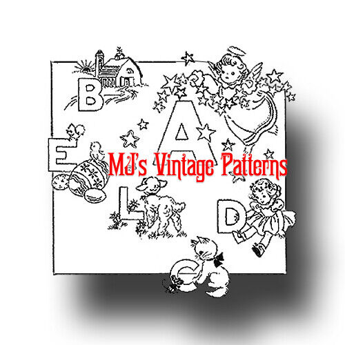 Vintage Embroidery Pattern To Make A Childs Alphabet 698 Picclick