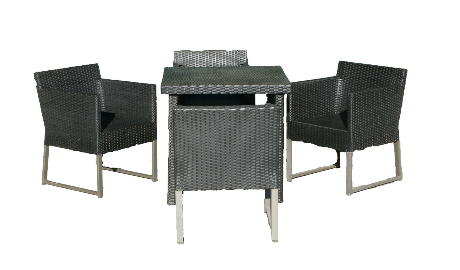 poly rattan set garnitur sitzgruppe sessel alu m bel lounge garten 77 x 77 cm eur 63 99. Black Bedroom Furniture Sets. Home Design Ideas