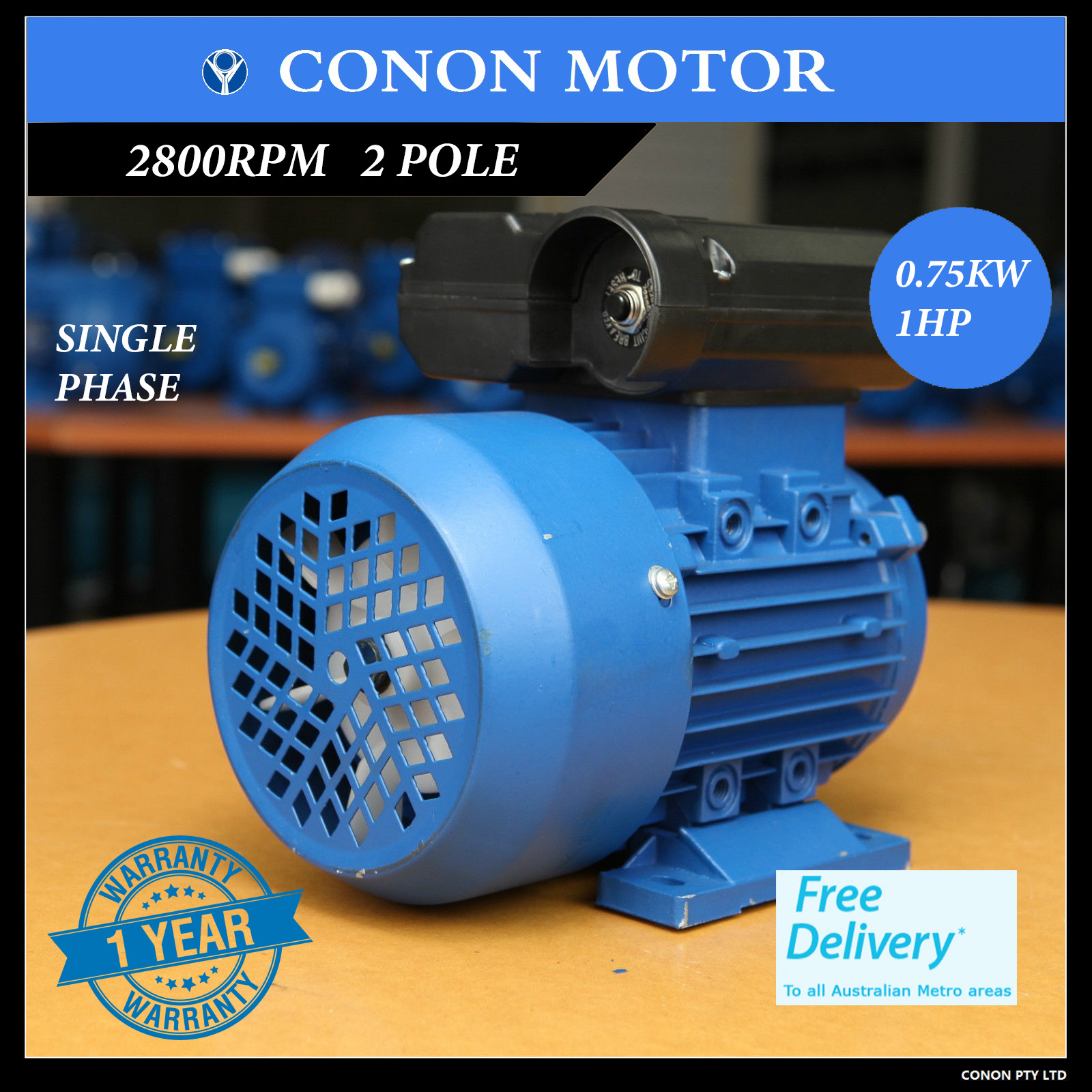 Electric motor single phase 240v 1hp 2800rpm shaft for 3 phase 1hp electric motor