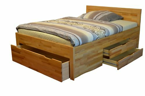 bett kernbuche 120x220 schubladenbett funktionsbett eur 399 00 picclick de. Black Bedroom Furniture Sets. Home Design Ideas