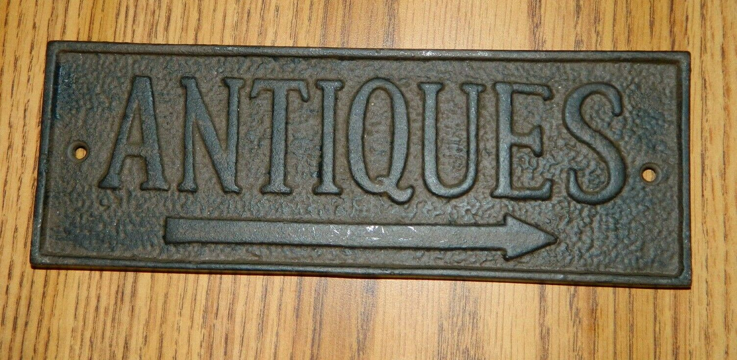 Cast Iron Antique Store Primitive Antiques Pointing Wall Plaque