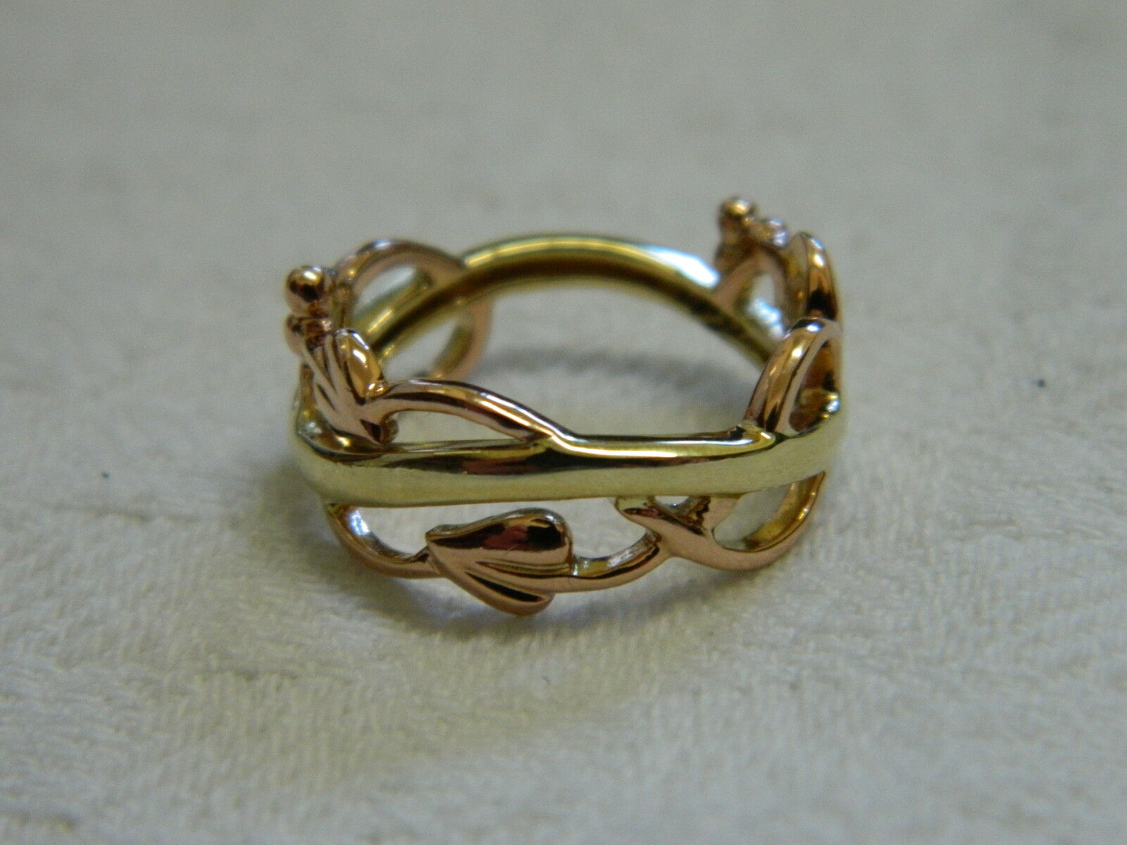 Clogau 9ct Yellow Amp Rose Welsh Gold Am Byth Ring RRP GBP64000 Size N