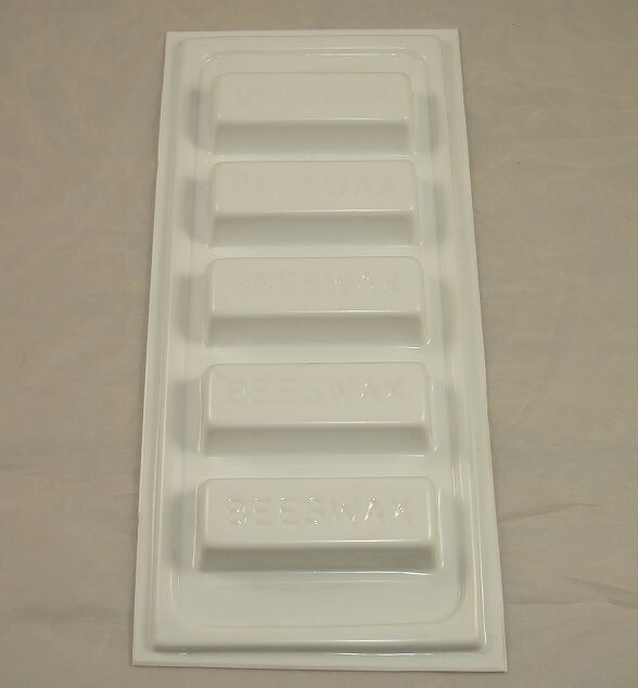 BEESWAX BLOCK MOULD - RECTANGLE - MAKES 5X 1oz /  28g BLOCKS - BEES WAX - CRAFTS