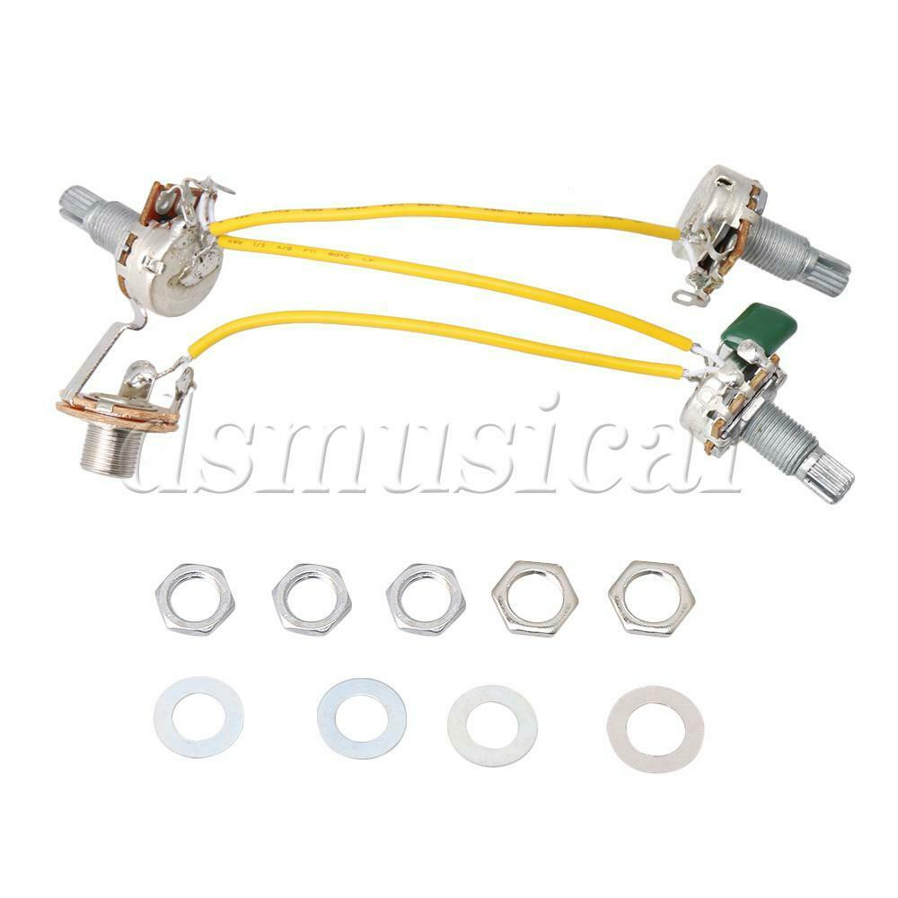 1 Set Of Jb Bass Guitar Wiring Harness Prewired With 3 500k Pots Pickup Volume Tone 3way Switch Jack 8free Shipping See More