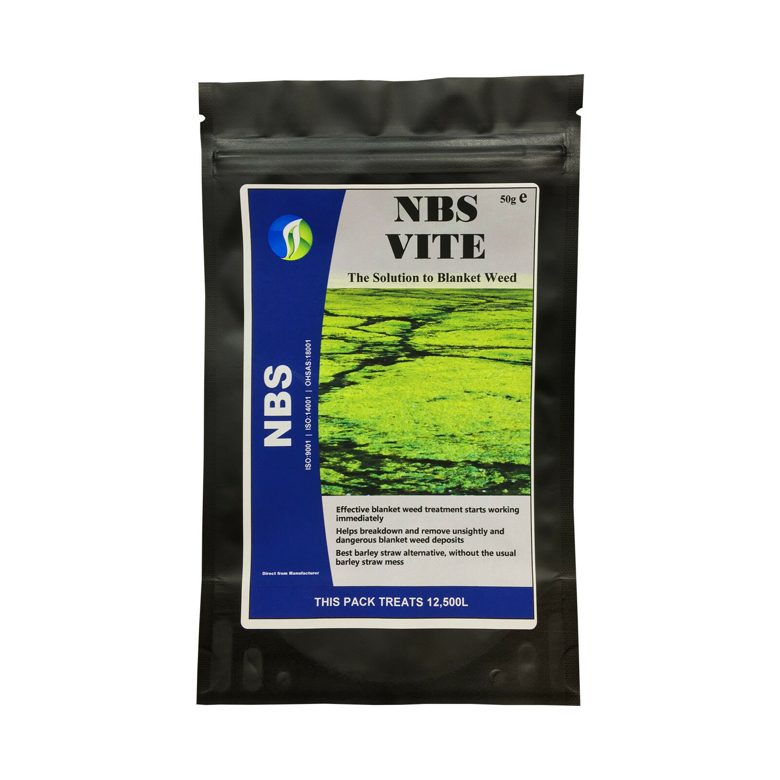 NBS VITE Clear Fish Pond Green Algae Blanket Weed 1 PACK Treats Up to 12,500 Ltr