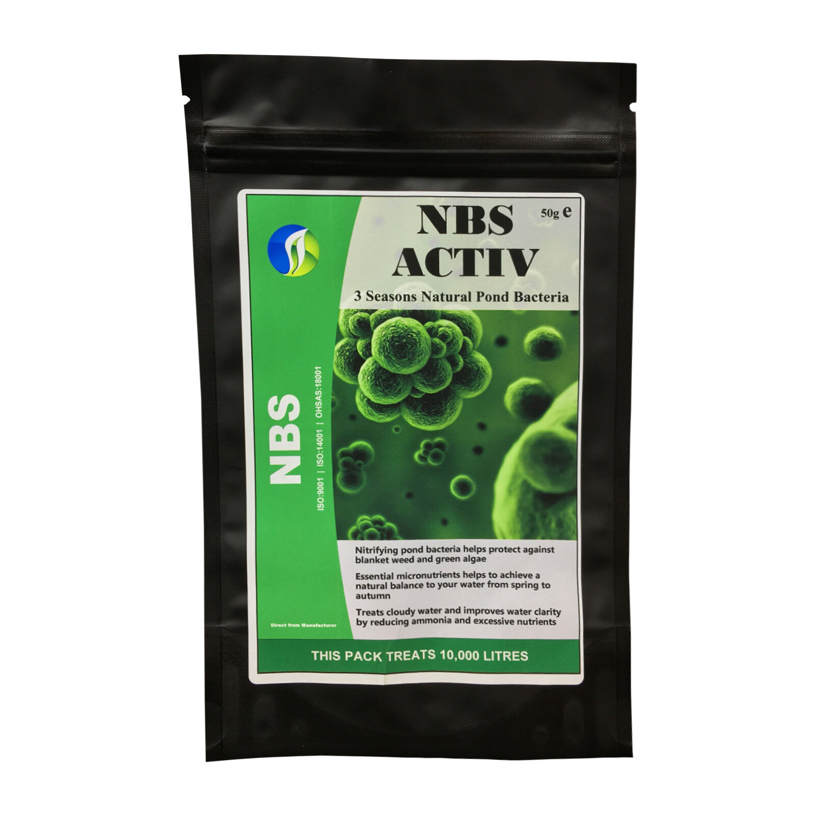 Beneficial Koi Pond Bacteria Booster NBS ACTIV 1PACK Clear Koi Pond Cloudy Water