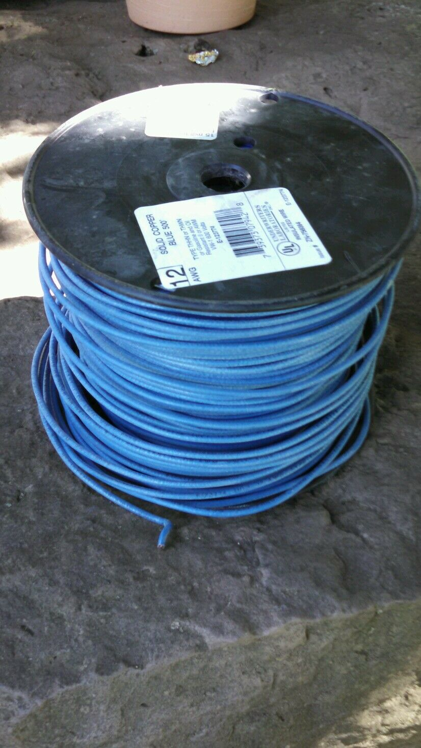 420 FT THHN/THWN WIRE 12 AWG SOLID 600 VOLT. MADE IN USA. Blue ...