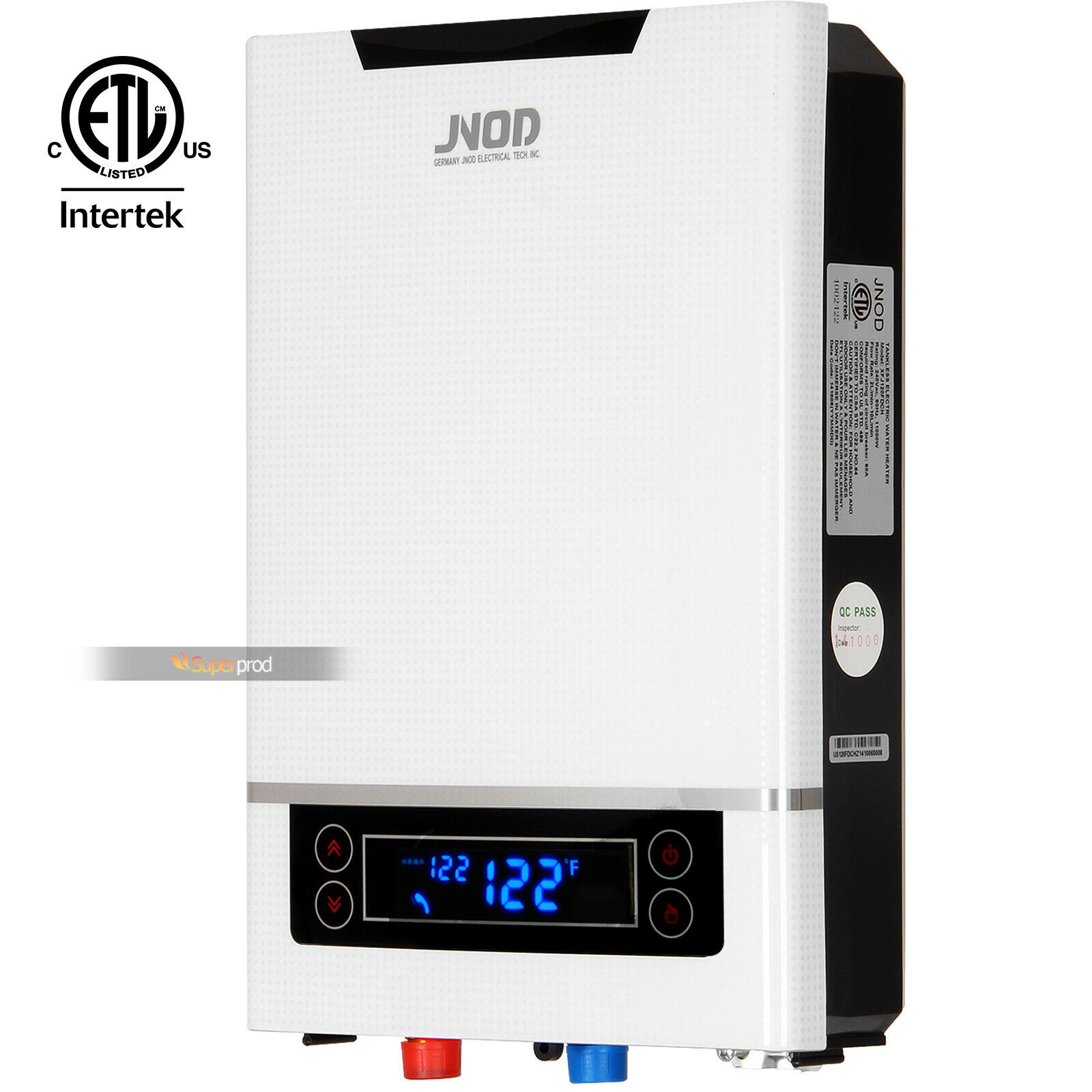 Electric Tankless White Water Heater 2lpm Sup 120 W Hot