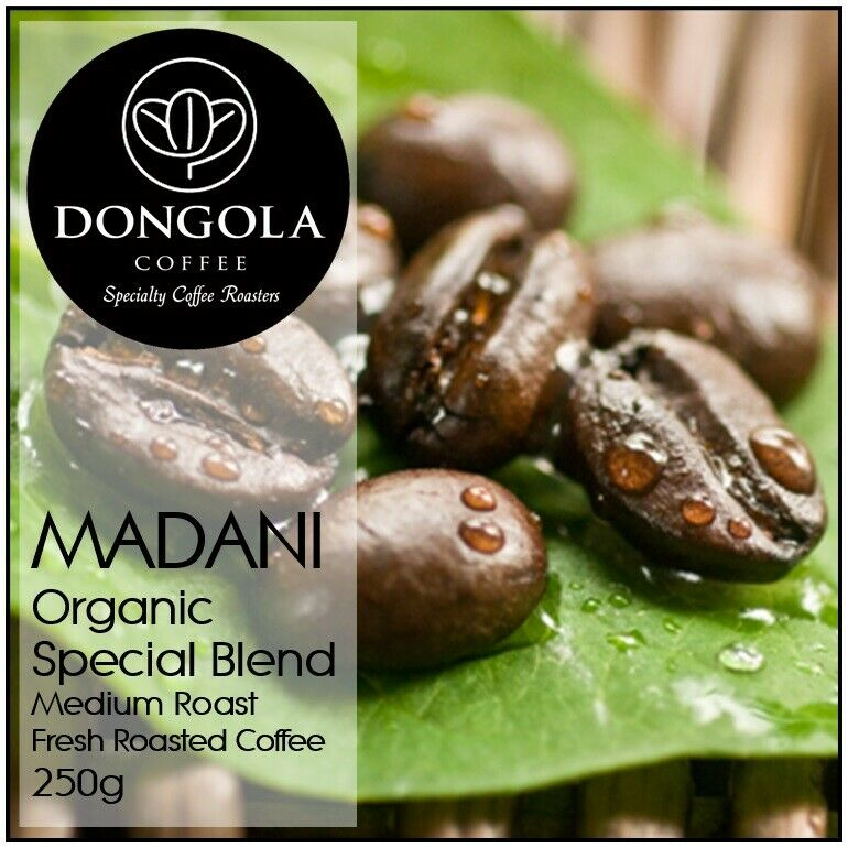 250g DONGOLA MADANI Organic Fresh Roasted Coffee Beans Special Blend Bean Ground