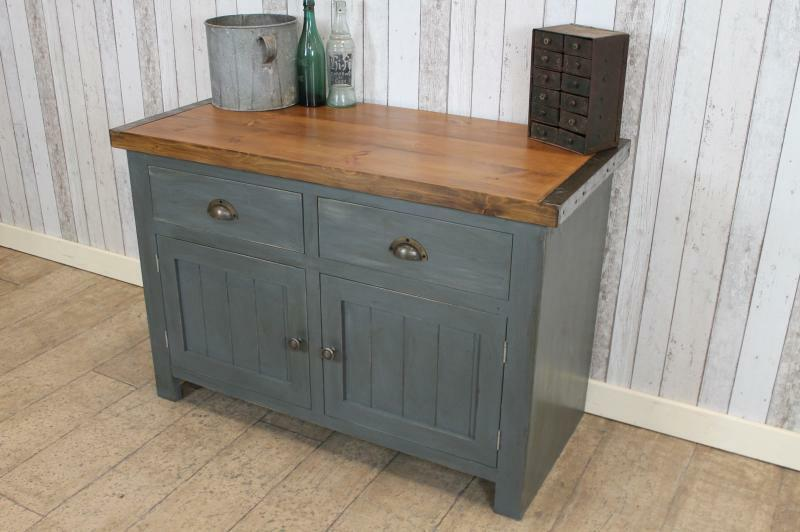 Handmade 6Ft Vintage Industrial Style Cabinet Work Bench Shabby Chic Sideboard