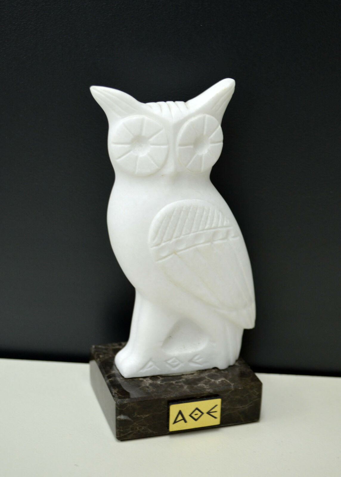 Owl Ancient Greek Symbol Of Knowledge And Wisdom Real Marble Statue