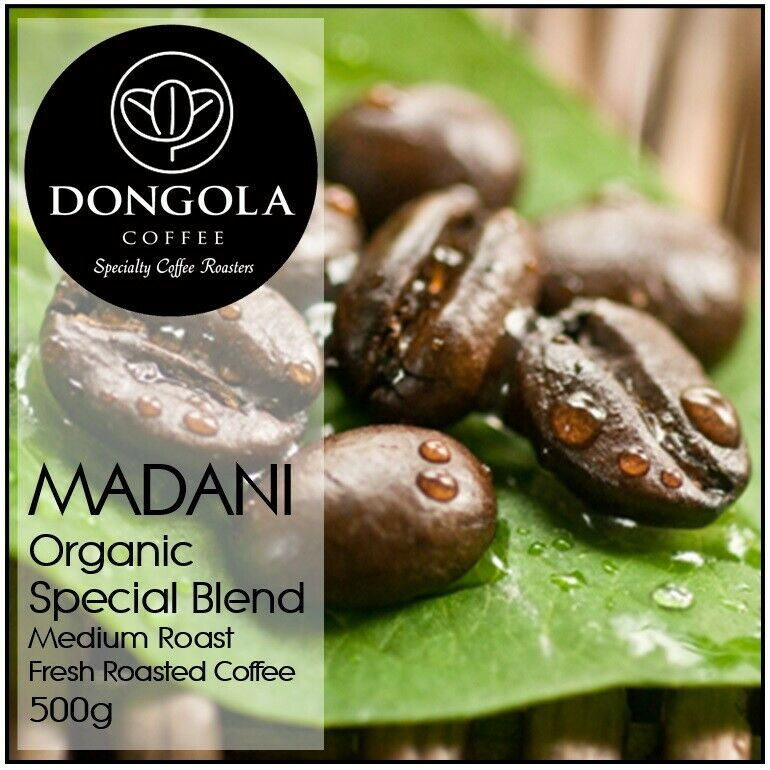 490g DONGOLA MADANI Organic Fresh Roasted Coffee Beans Special Blend Whole Bean