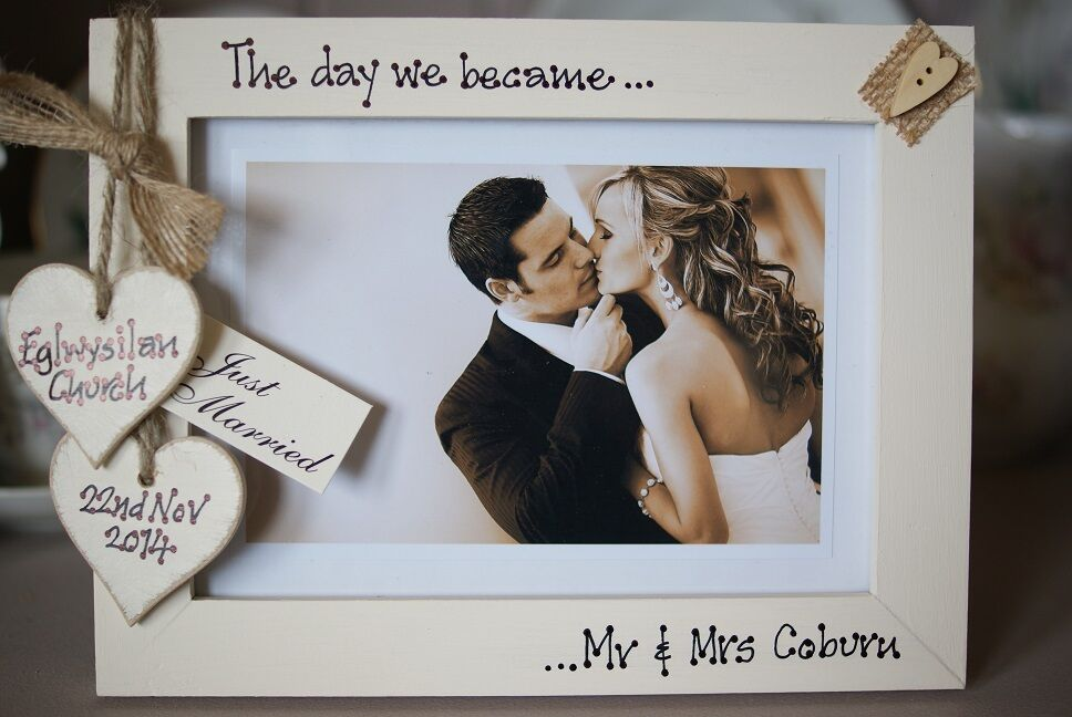Personalised Photo Frame By Filly Folly Vintage Wedding Gift