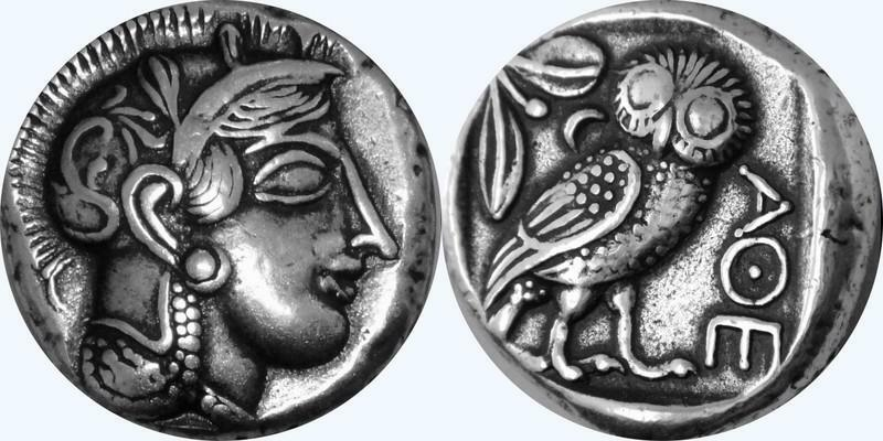 For Percy Jackson Fans, Athena Goddess of  Wisdom,Artists Rendition,Silver Plate