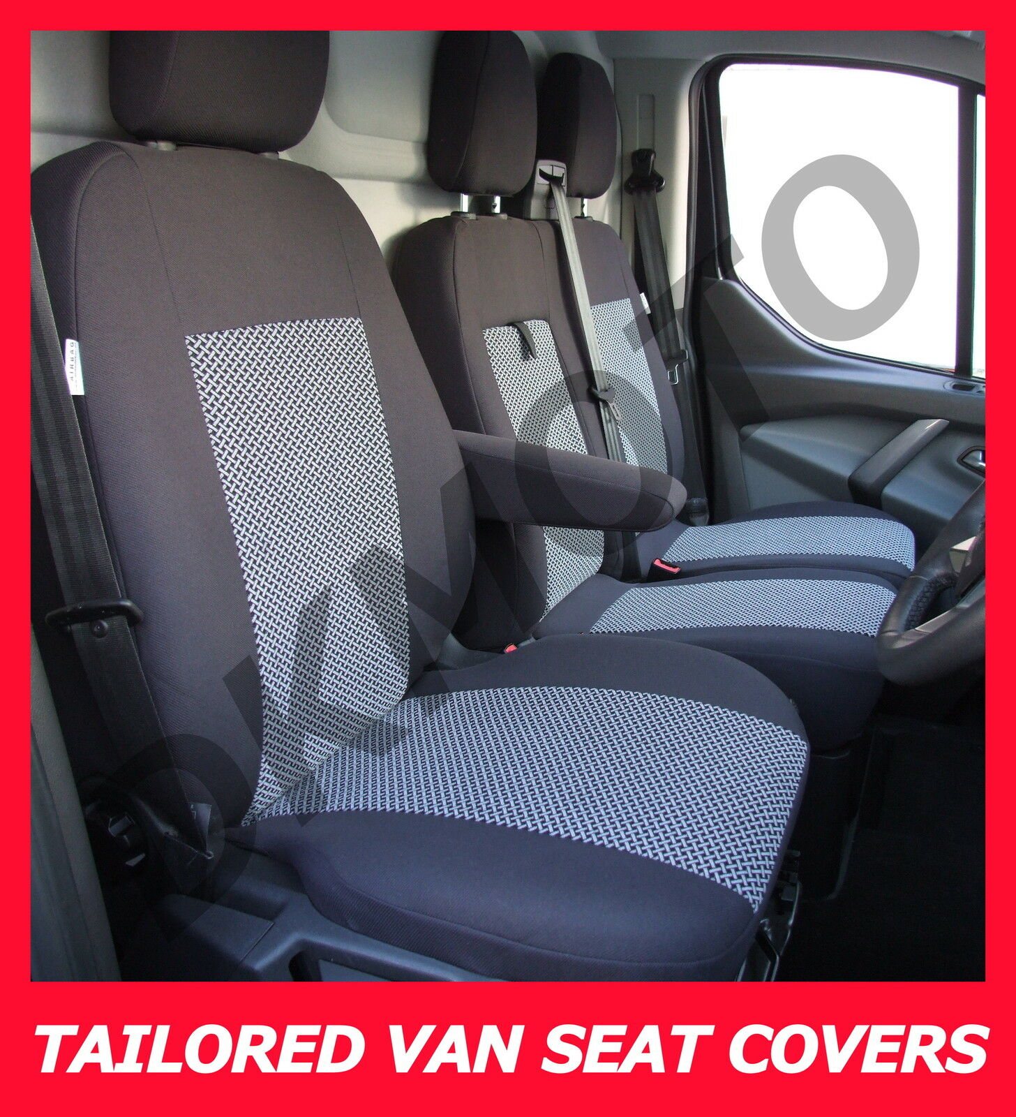 Tailored Seat Covers Ford Transit Custom 2 1 Grey2 O GBP42