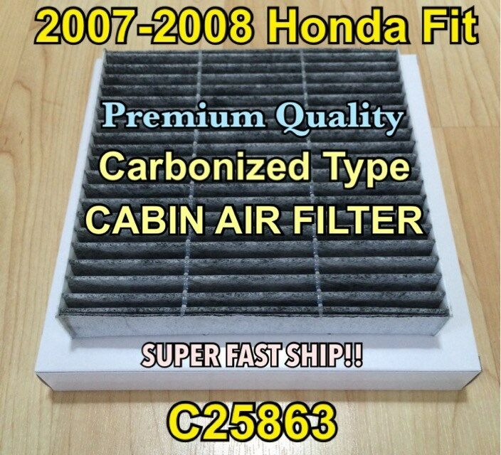 C25863 CARBONIZED CABIN AIR FILTER For HONDA FIT 2007 08 U0026 NEW SCION FR  1  Of 6FREE Shipping See More