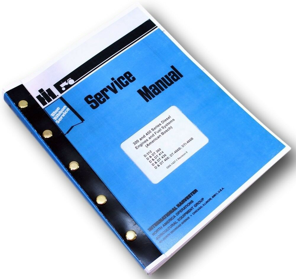 International Dt-466B Diesel Engine Service Repair Shop Manual Dt466B  Tractor Ih 1 of 9FREE Shipping ...