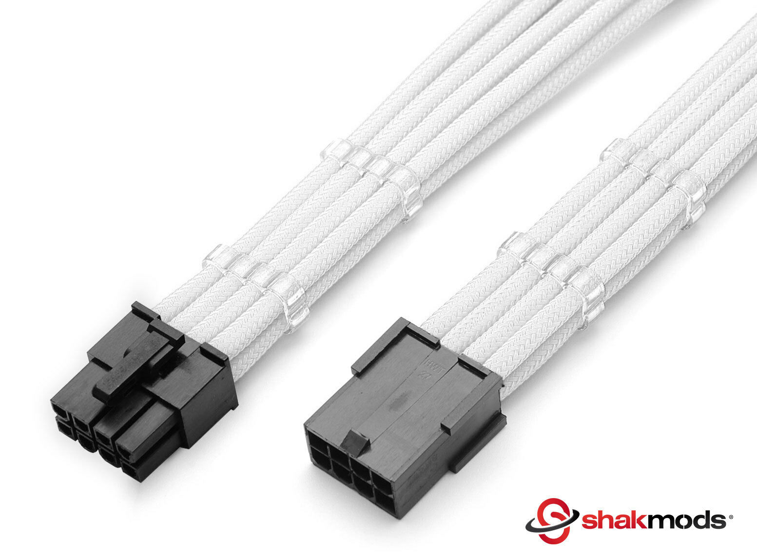 8 Pin White Atx Cpu Psu Sleeved Power Supply Extension Shakmods 2 Bitfenix 24 Cable Red Black 30 Cm Combs 1 Of 5free Shipping