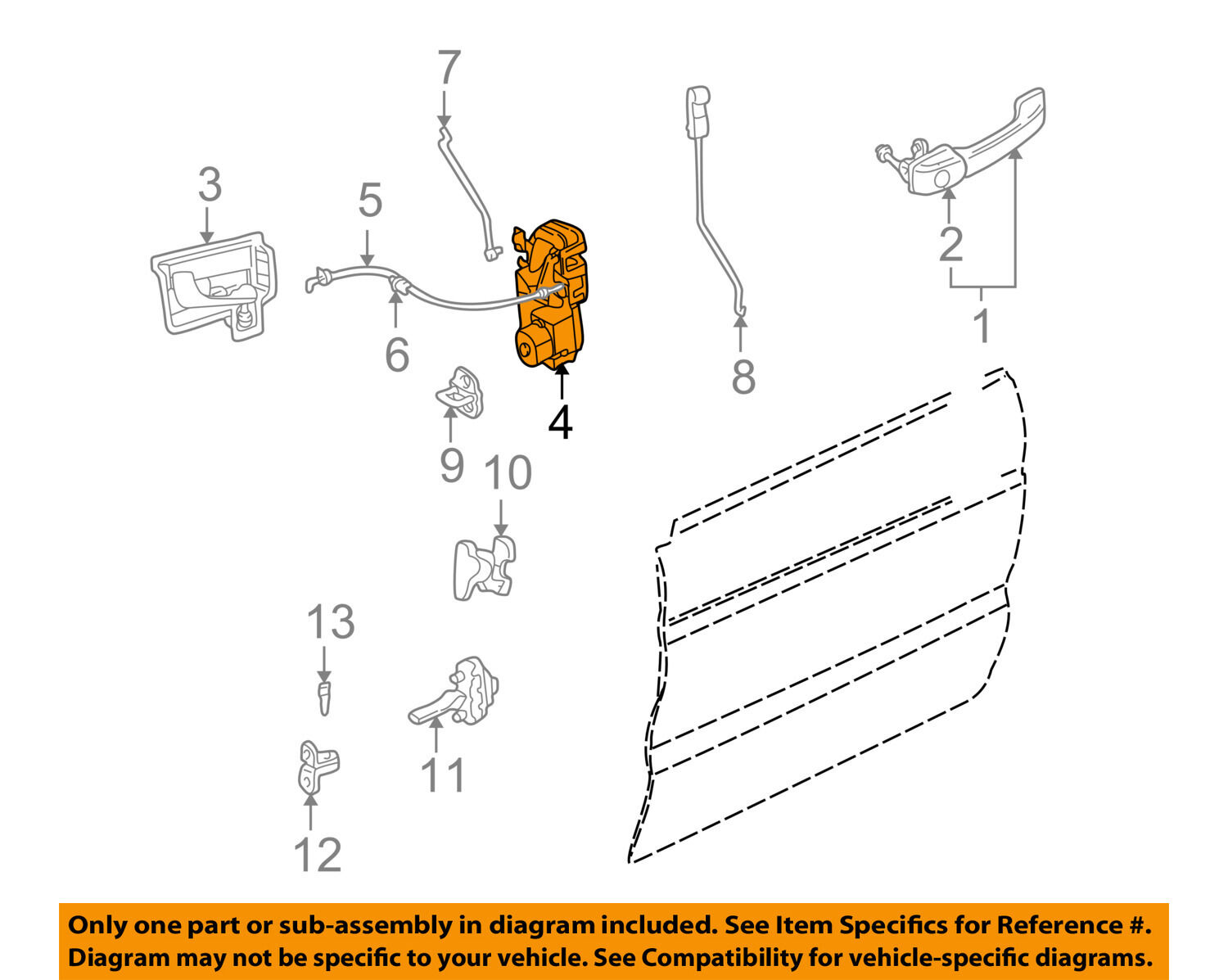 Land Rover Oem 99 04 Discovery Front Door Lock Latch Kit Fqj102910 2 Rear Light Diagram 1 Of 2free Shipping
