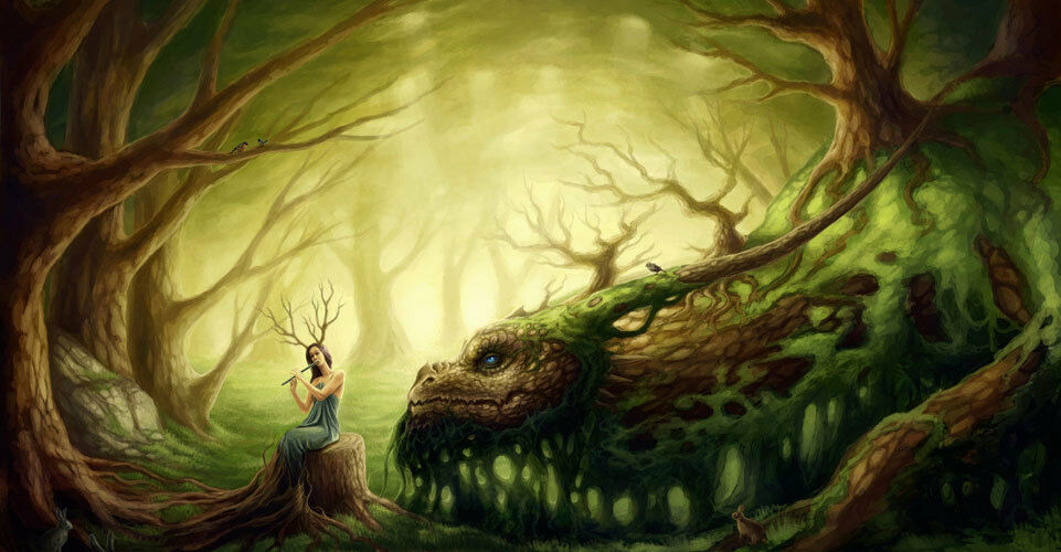 Enchanted Forest Fantasy Fairy Full Wall Mural Photo Wallpaper Home