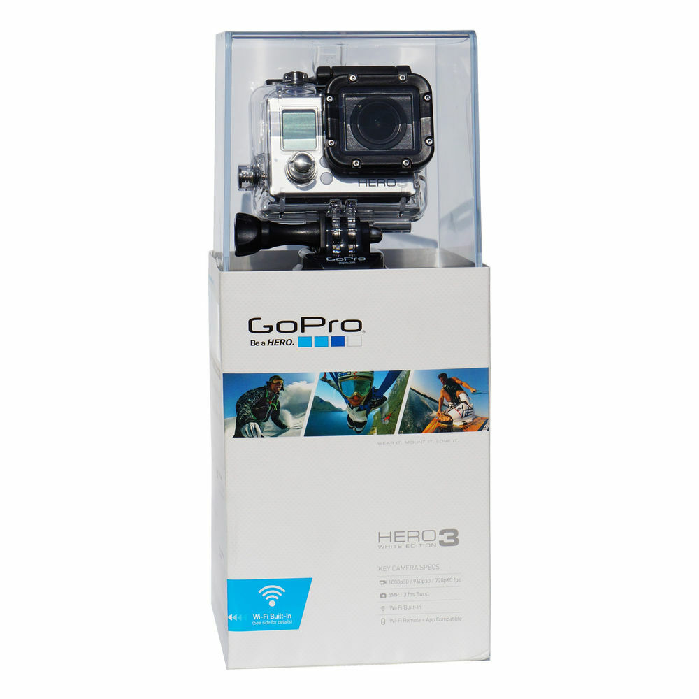 gopro hero 3 white edition camcorder black silver. Black Bedroom Furniture Sets. Home Design Ideas