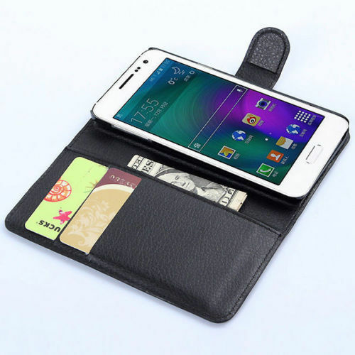 Housse etui coque cuir luxe portefeuille a rabat samsung for Housse samsung galaxy s3