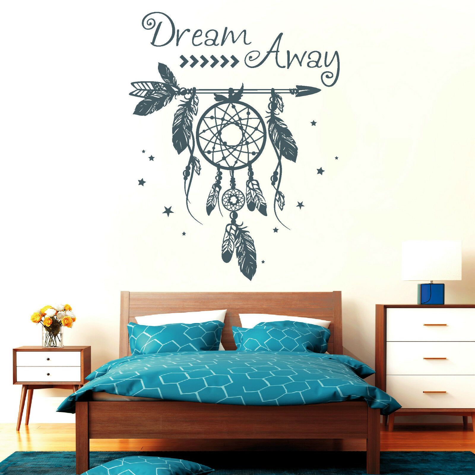 10812 wandtattoo loft aufkleber traumf nger dreamcatcher. Black Bedroom Furniture Sets. Home Design Ideas
