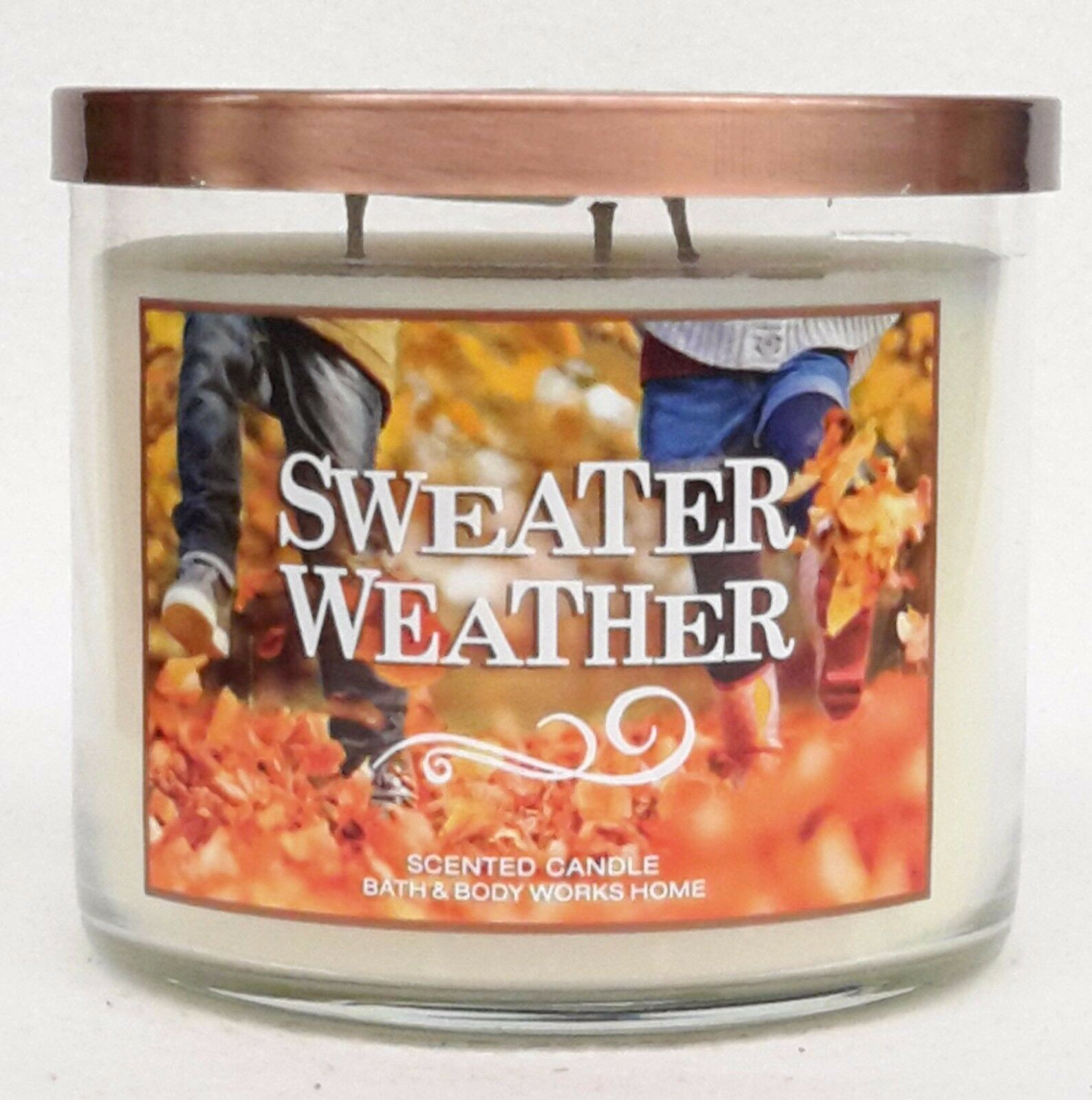 Bath Body Works Sweater Weather 3 Wick 145 Oz Scented Candle