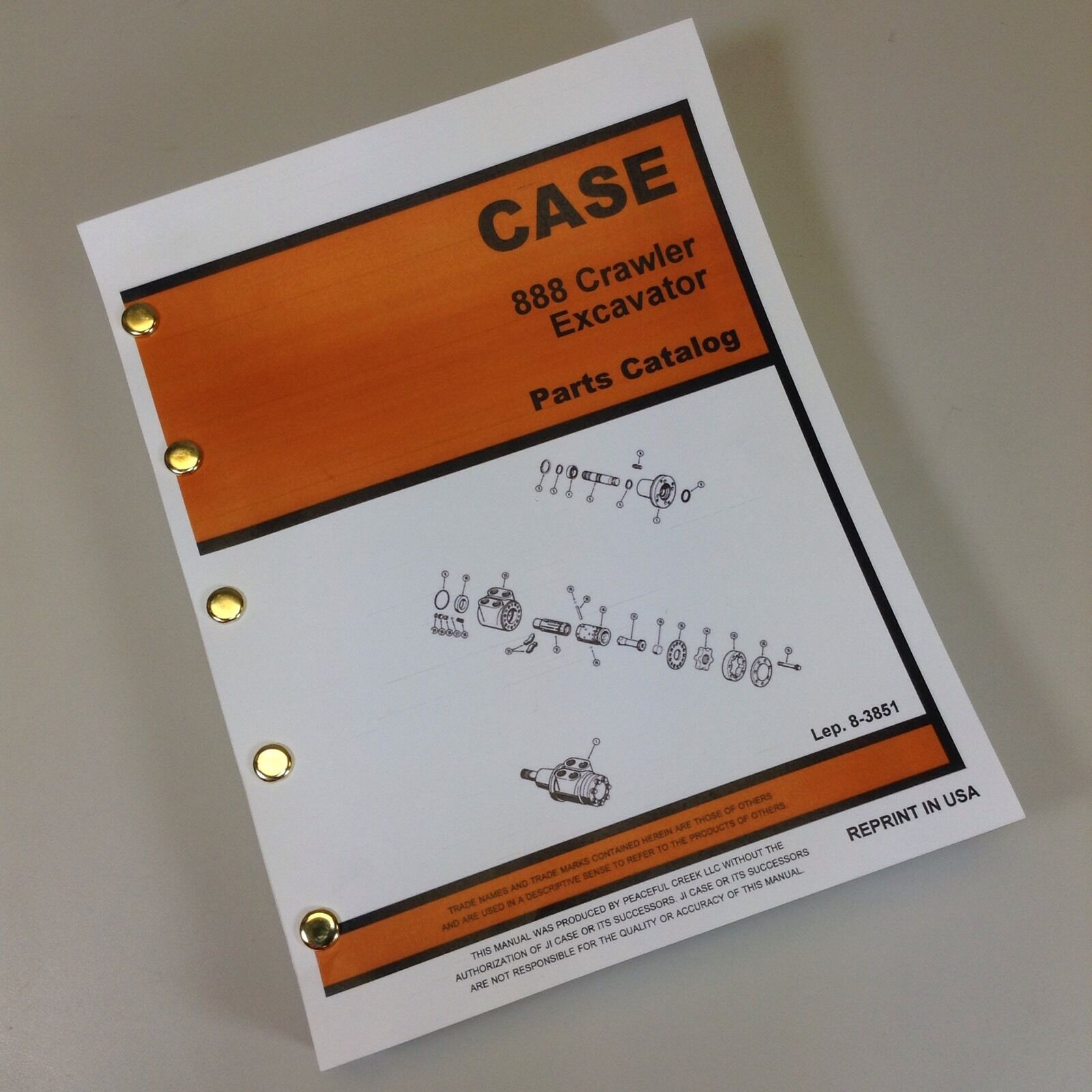 1 of 7FREE Shipping Case 888 Crawler Track Excavator Parts Manual Catalog  Exploded Views Assembly
