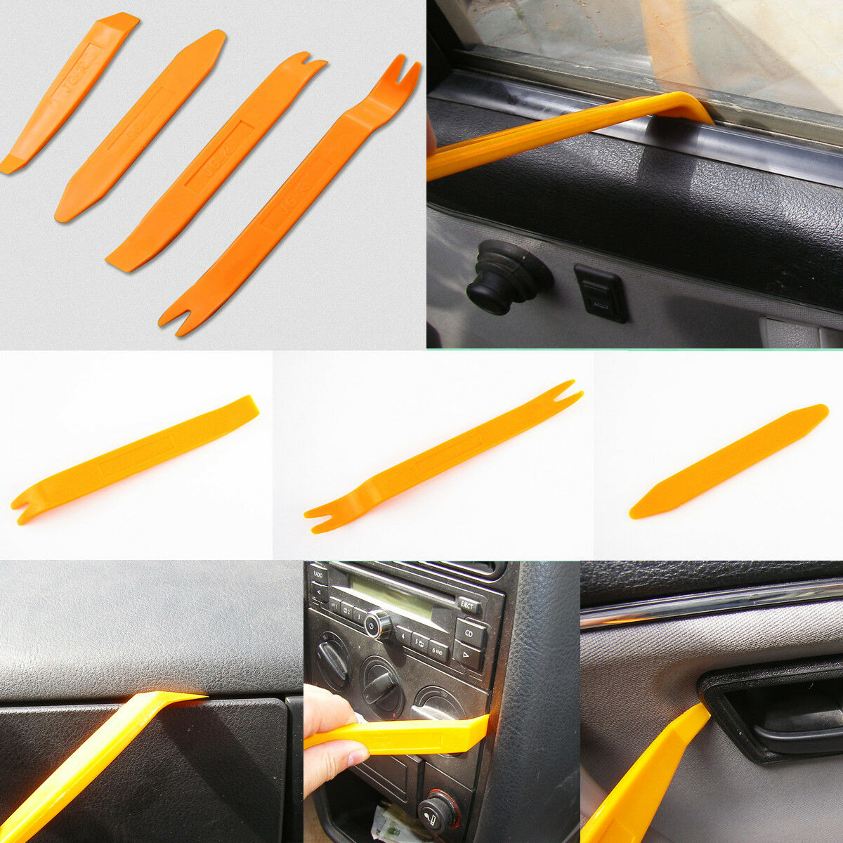 auto interior door trim panel gps radio audio removal pry open profissioal tools. Black Bedroom Furniture Sets. Home Design Ideas