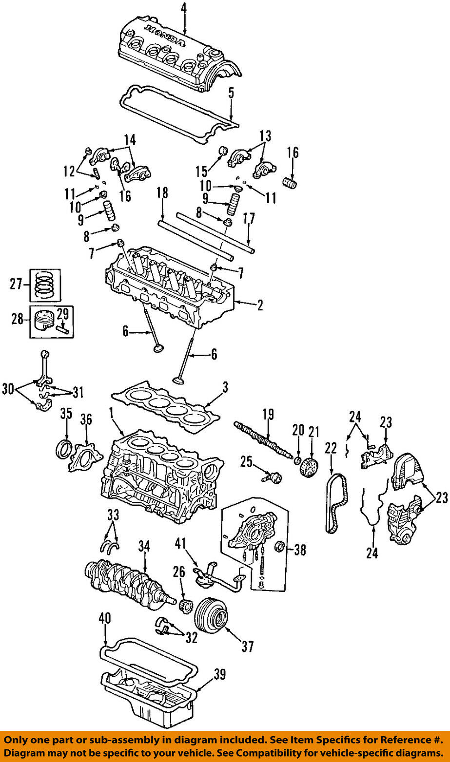 1996 Honda Civic Cylinder Head Diagram Product Wiring Diagrams 2000 Transmission Services Oem 96 00 Engine Gasket 12251p2j004 Rh Picclick Com 03 Fuel Injection Shifter
