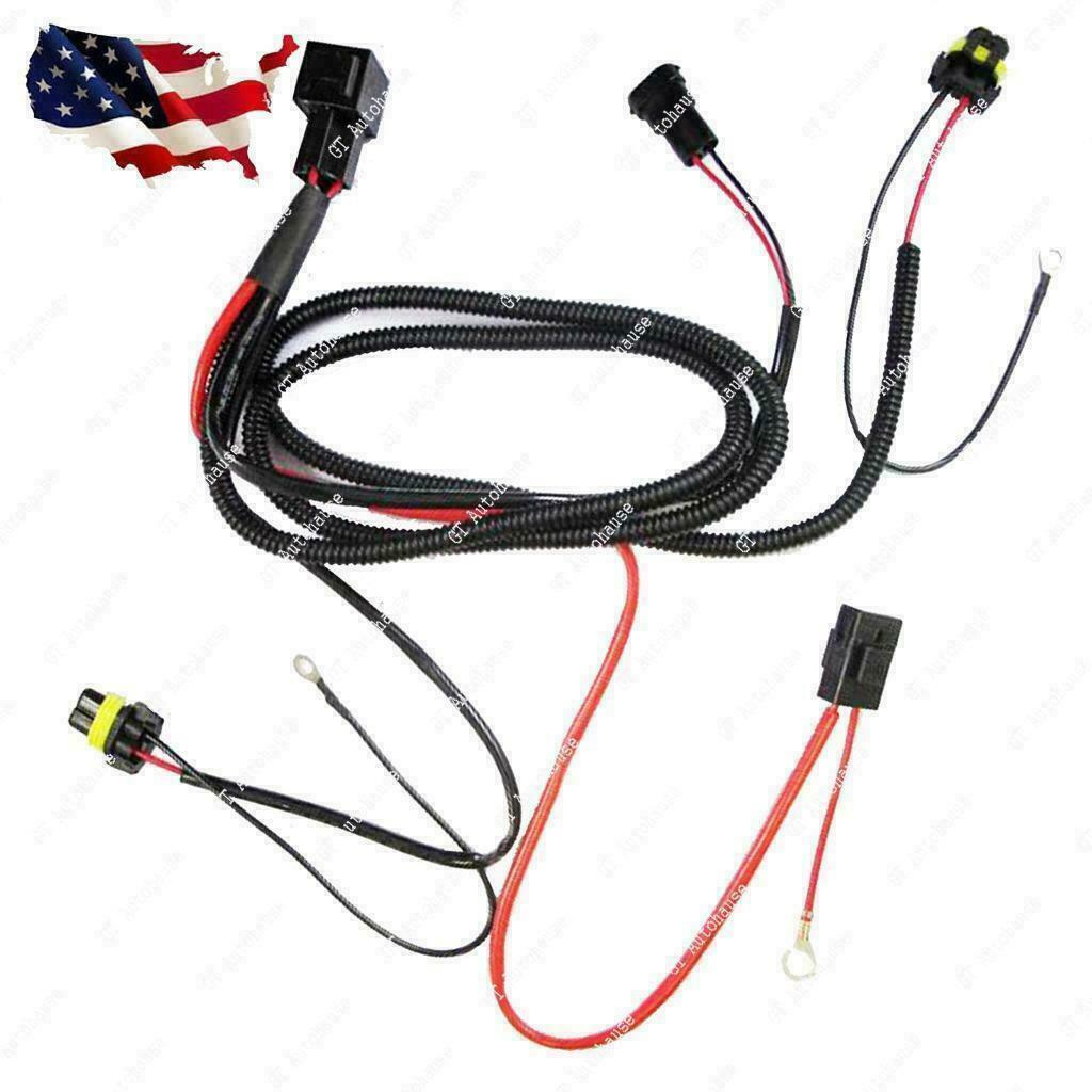 Xenon Hid Relay Wiring Harness Kit For H1 H7 H8 H10 H11 Hb4 9005 Kits 1 Of 8free Shipping