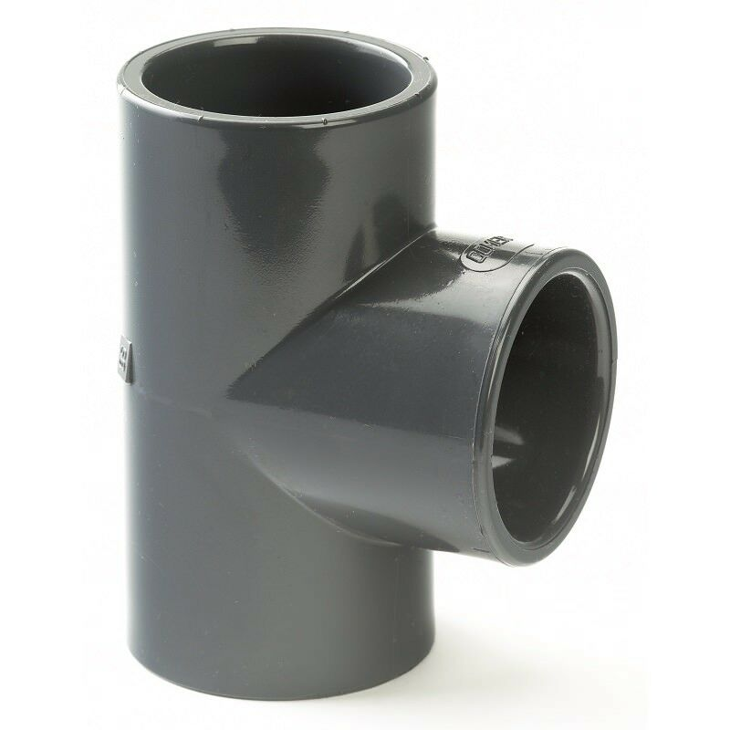 PVC /PVCu Pipe Fittings Solvent Cement Plain Tee 90° Metric