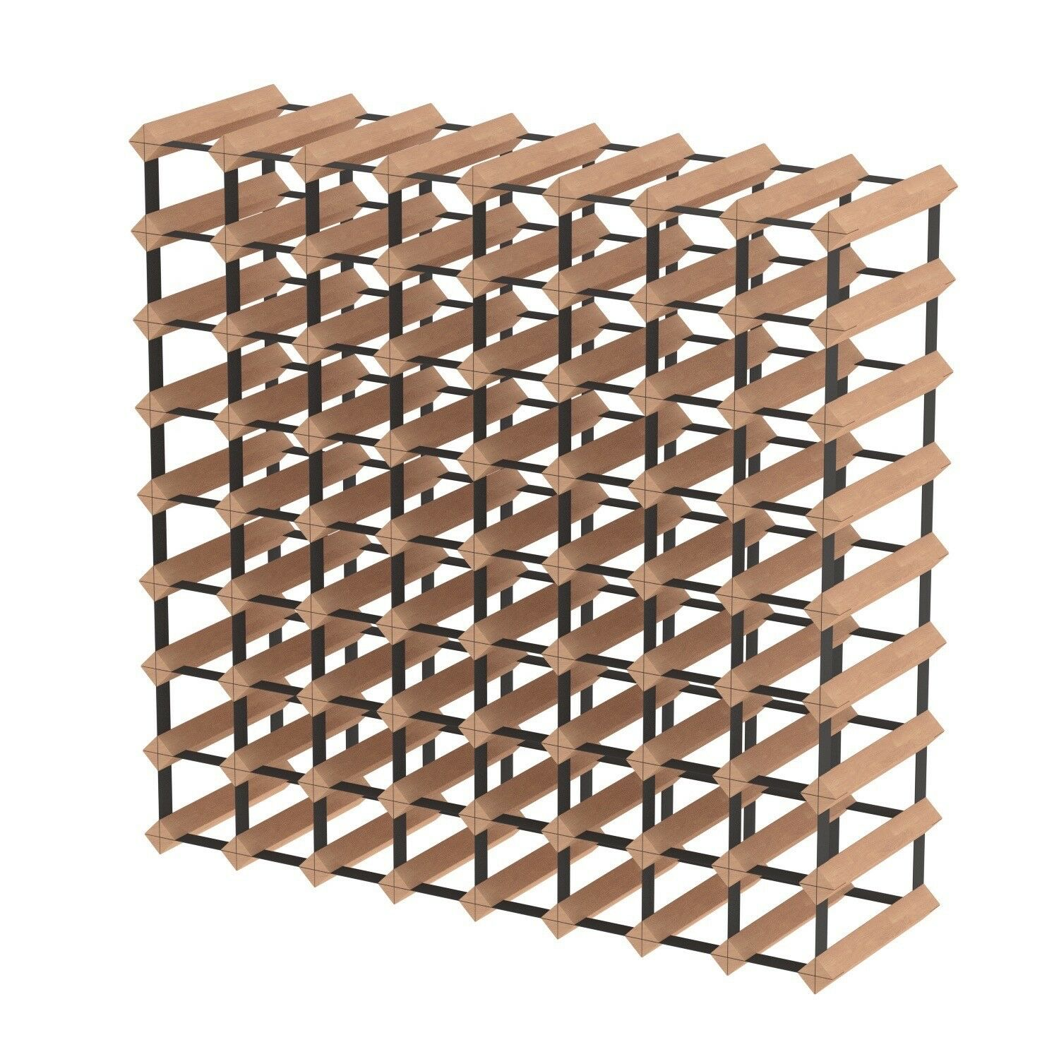 72 Bottle Timber Wine Rack - Fully Assembled and Delivered - Free Aus Postage