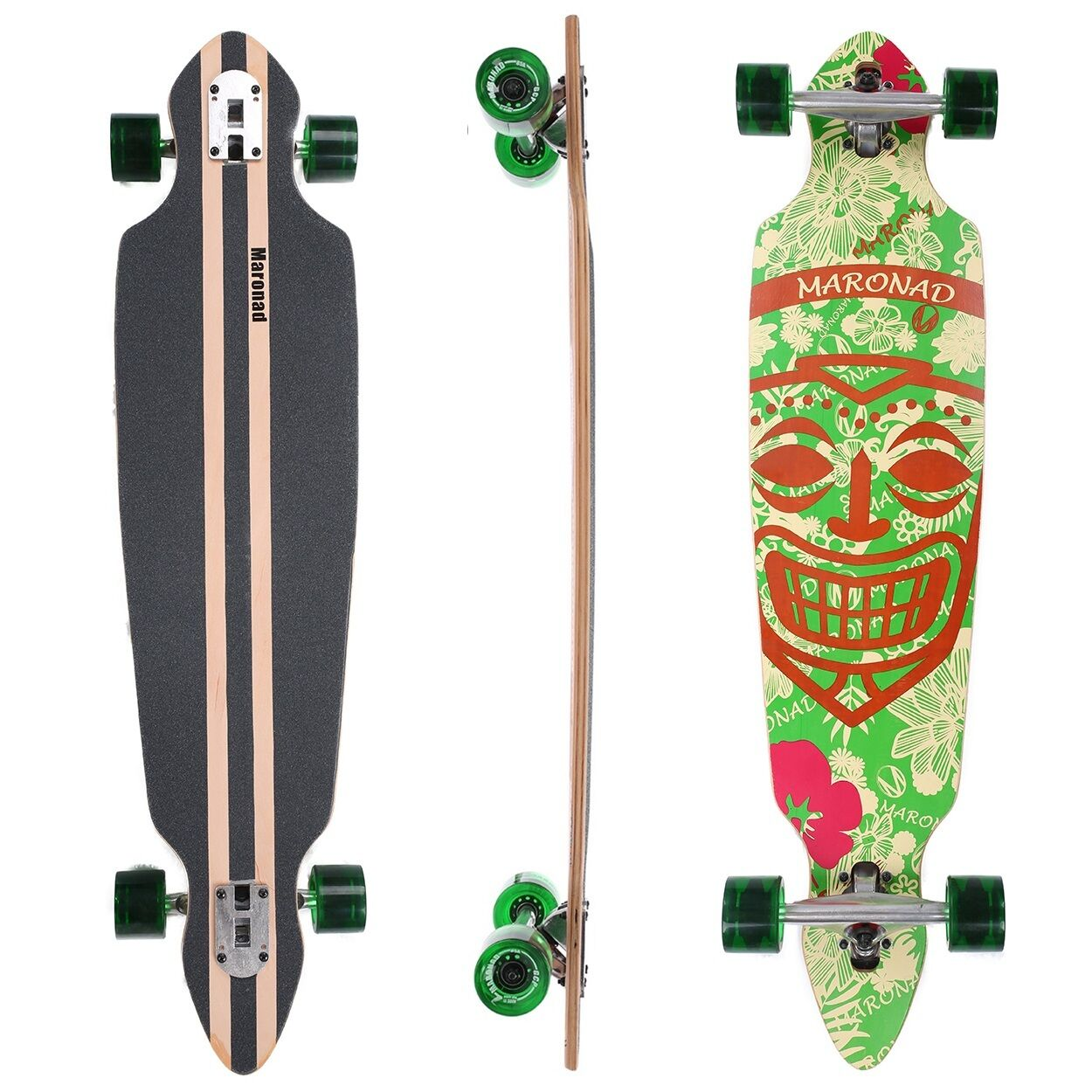 maronad longboard skateboard 41 drop through cruiser abec 11 komplett aruba eur 55 00. Black Bedroom Furniture Sets. Home Design Ideas