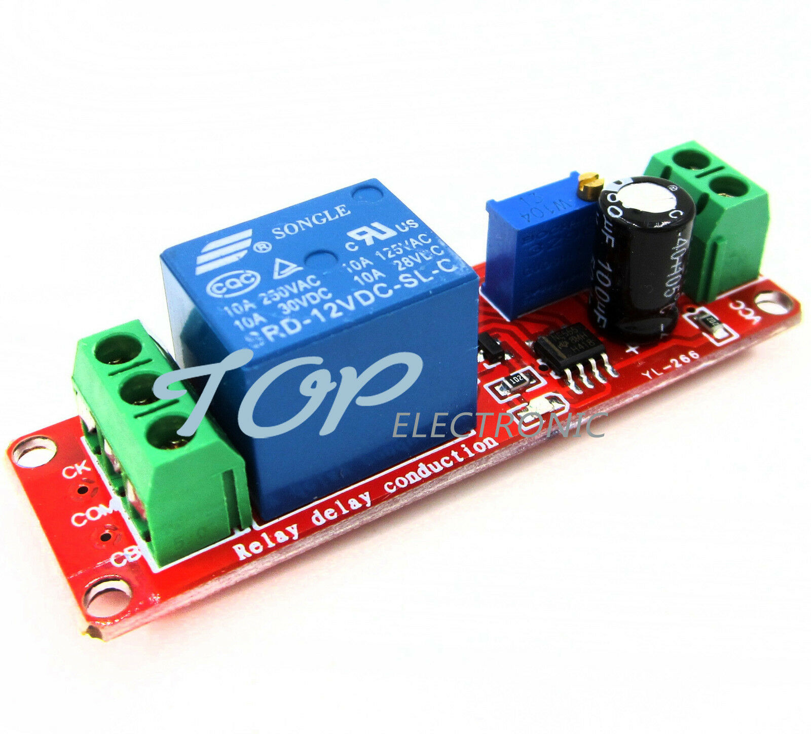 Dc 12v Delay Relay Shield Ne555 Timer Switch Adjustable Module 010s 1pcs Turn On Off 1 Of 1free Shipping