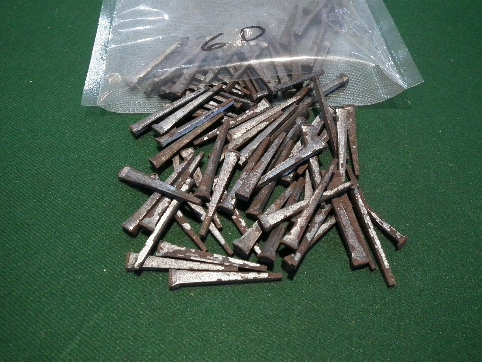 Vintage Cut Nails 1 Pound, 6D, Made In Wva W/american Steel Hardened & Tempered