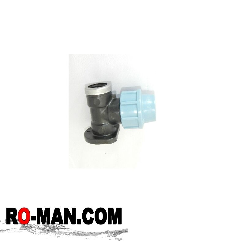 """25mm x 3/4"""" MDPE Wall Plate Water/PE/Alkathene/MDPE Compression Pipe Fittings"""