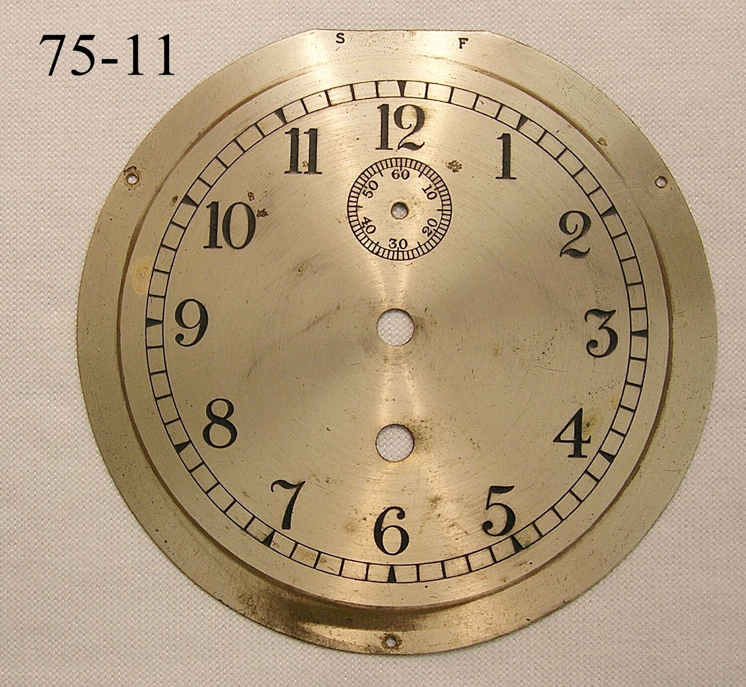 Dial Plate for Antique Ships Clock
