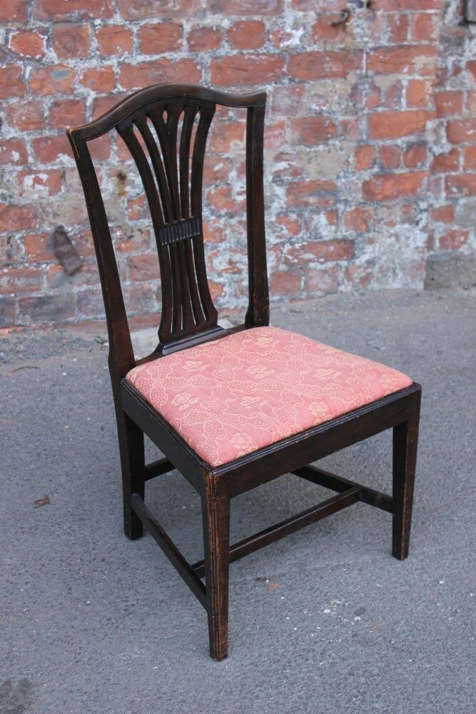 Single Antique Mahogany Occasional Side Chair - Bedroom Chair - Dining Chair