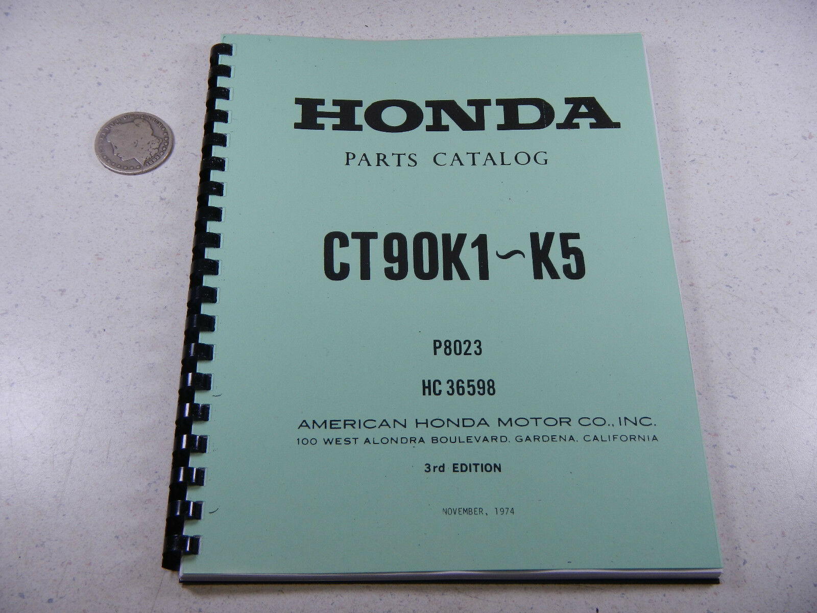 69 74 Honda Ct90 Ct Trail 90 K1 K5 Parts Fiche Fish Diagram Book 110 Wiring Trial Bike 1 Of 3free Shipping