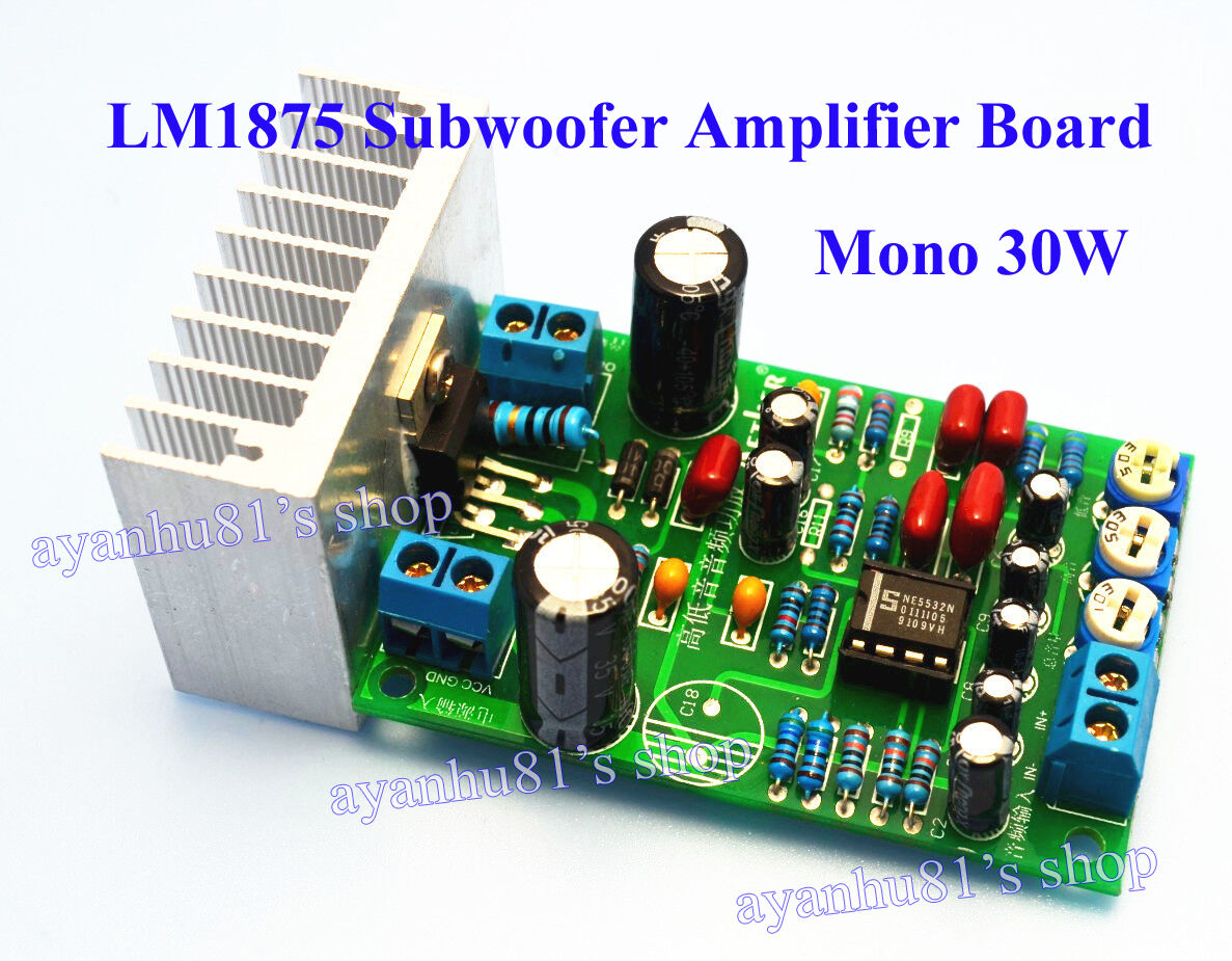 Lm1875 Mono 30w Subwoofer Audio Power Amplifier Board Treble Bass 20w Using Volume Adjust 1 Of 5