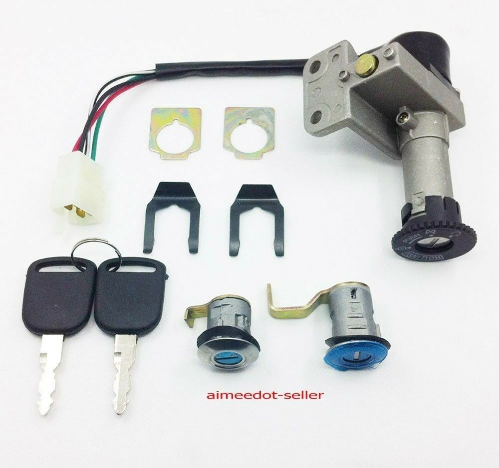 4 Wire Ignition Switch Key Set 50 125 150 250cc Moped Scooter Taotao Four 1 Of