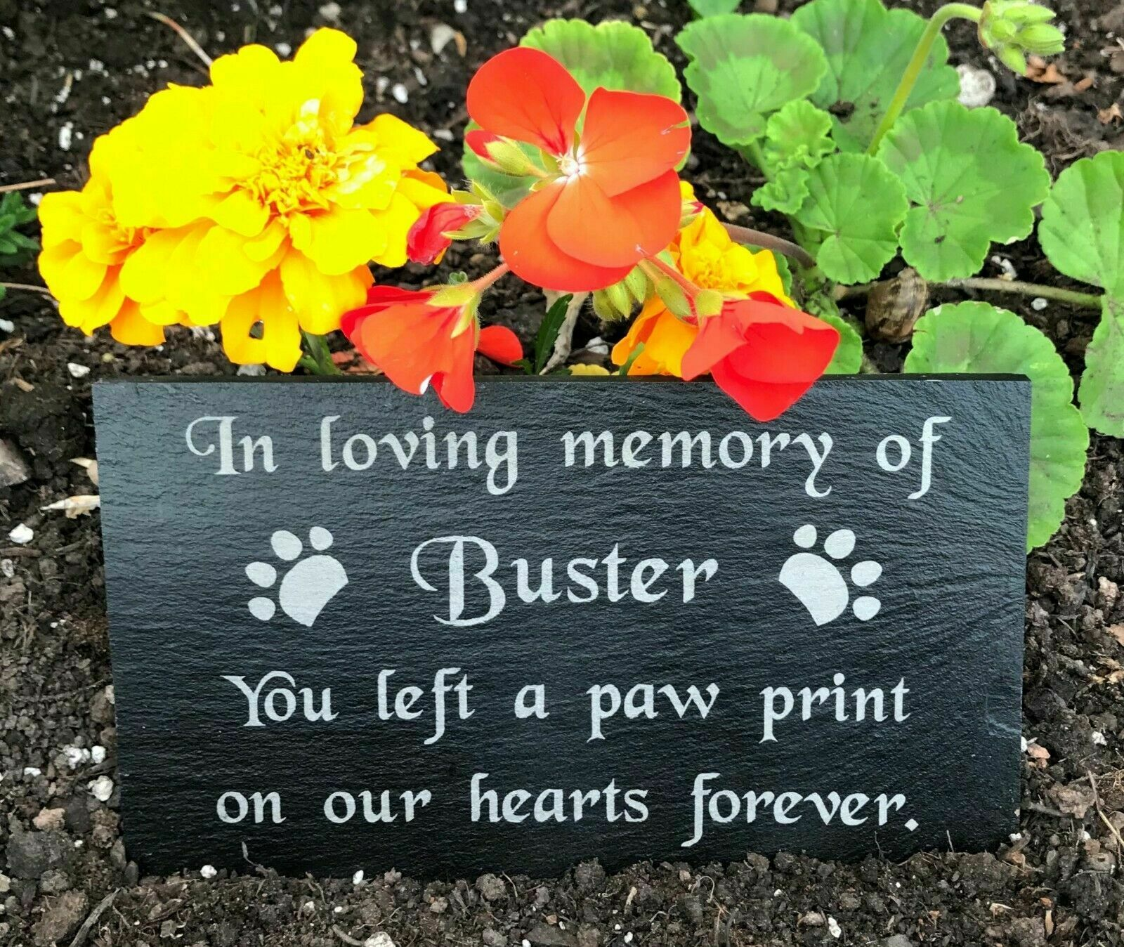 Personalised Engraved Pet Memorial Headstone Grave Marker Plaque Dog Cat Rabbits