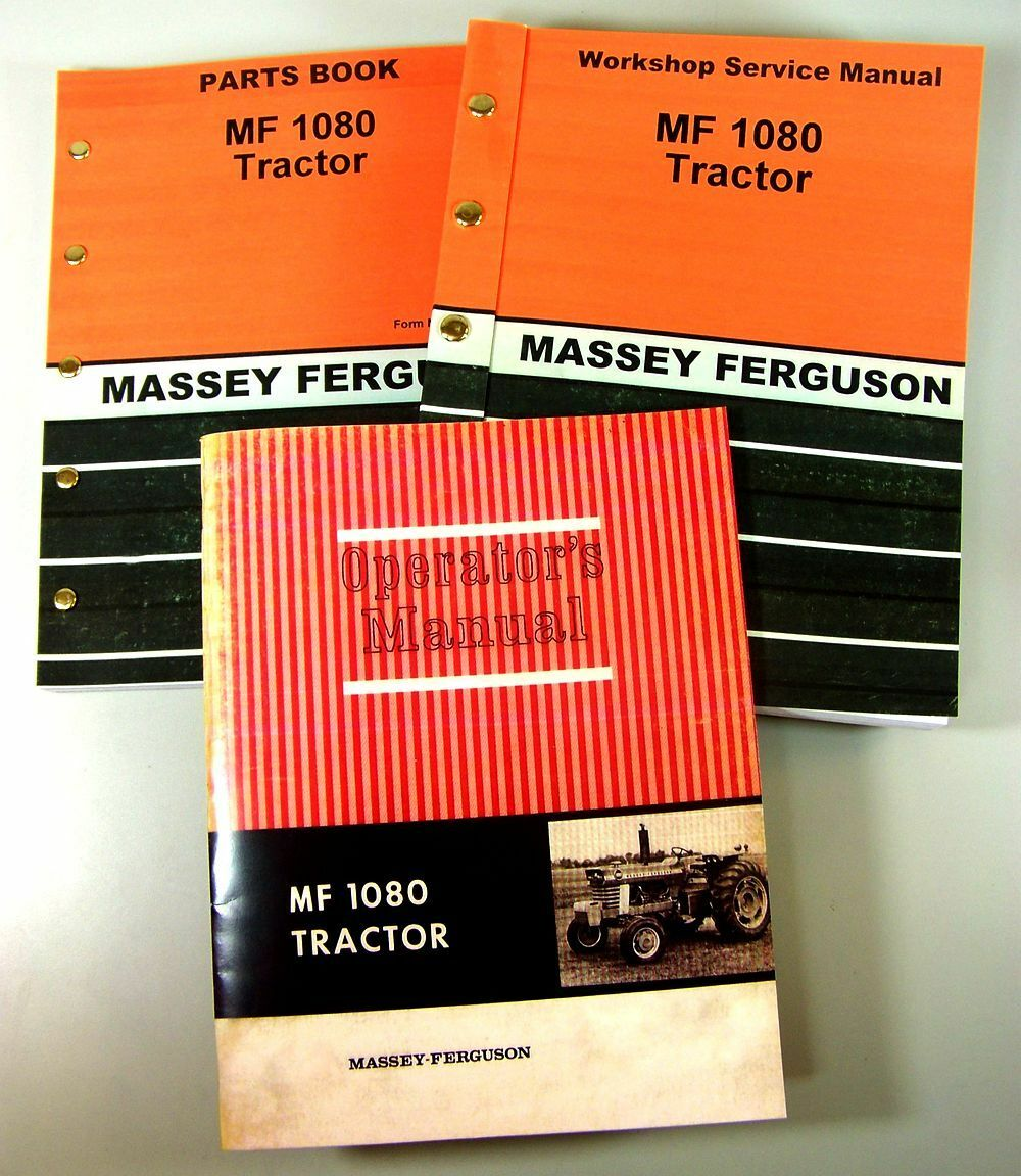 Set Massey Ferguson Mf 1080 Tractor Service Parts Owner Manual Repair  Operator 1 of 12FREE Shipping ...