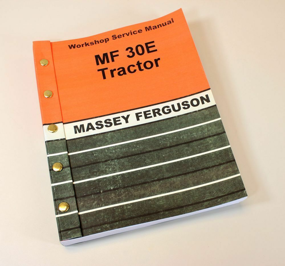 Massey Ferguson Mf 30E Tractor Service Manual Technical Repair Shop Workshop  1 of 11FREE Shipping ...