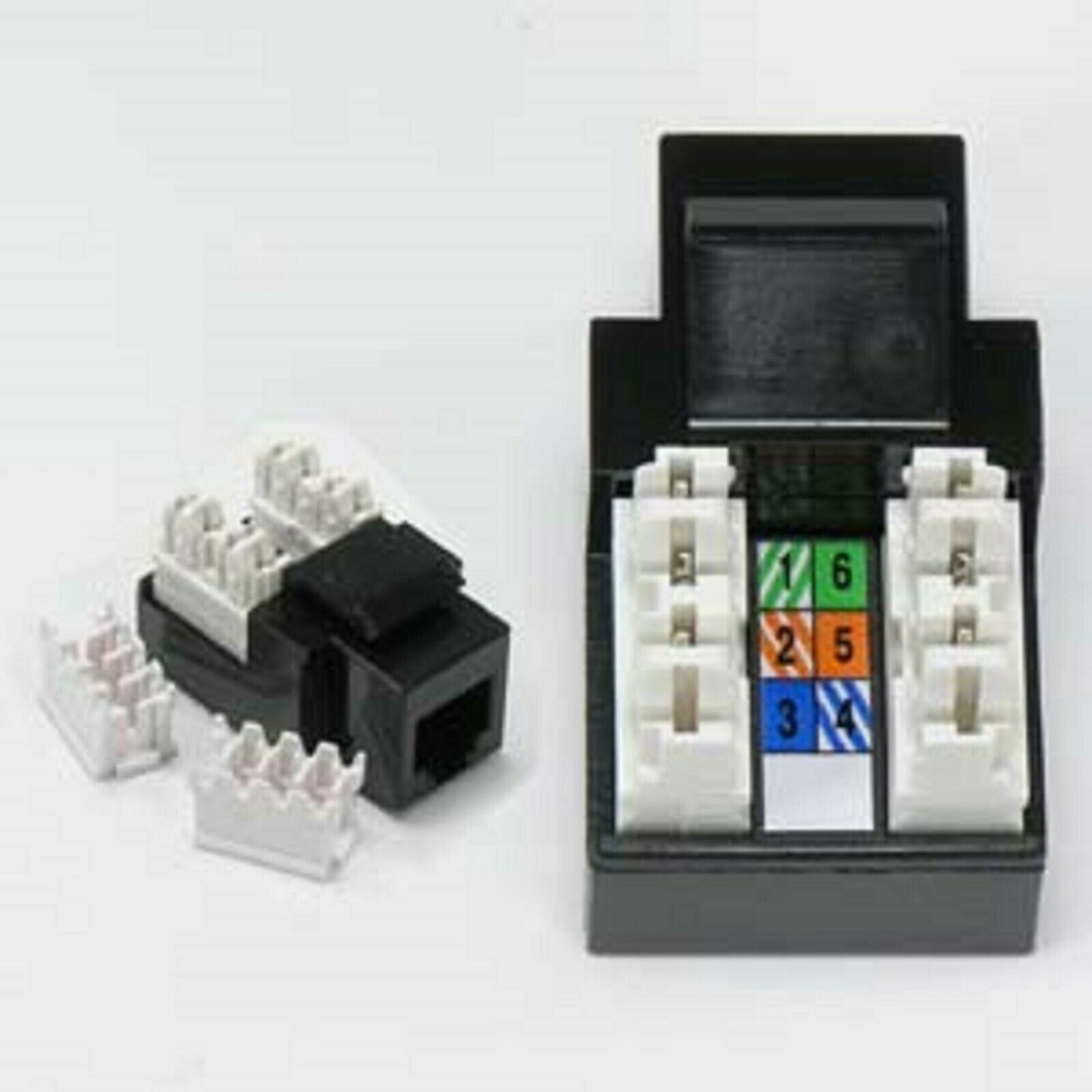 ( 10 Pack ) RJ11/12 (Cat.3) 110 Type Keystone Jack 1 of 1FREE Shipping See  More