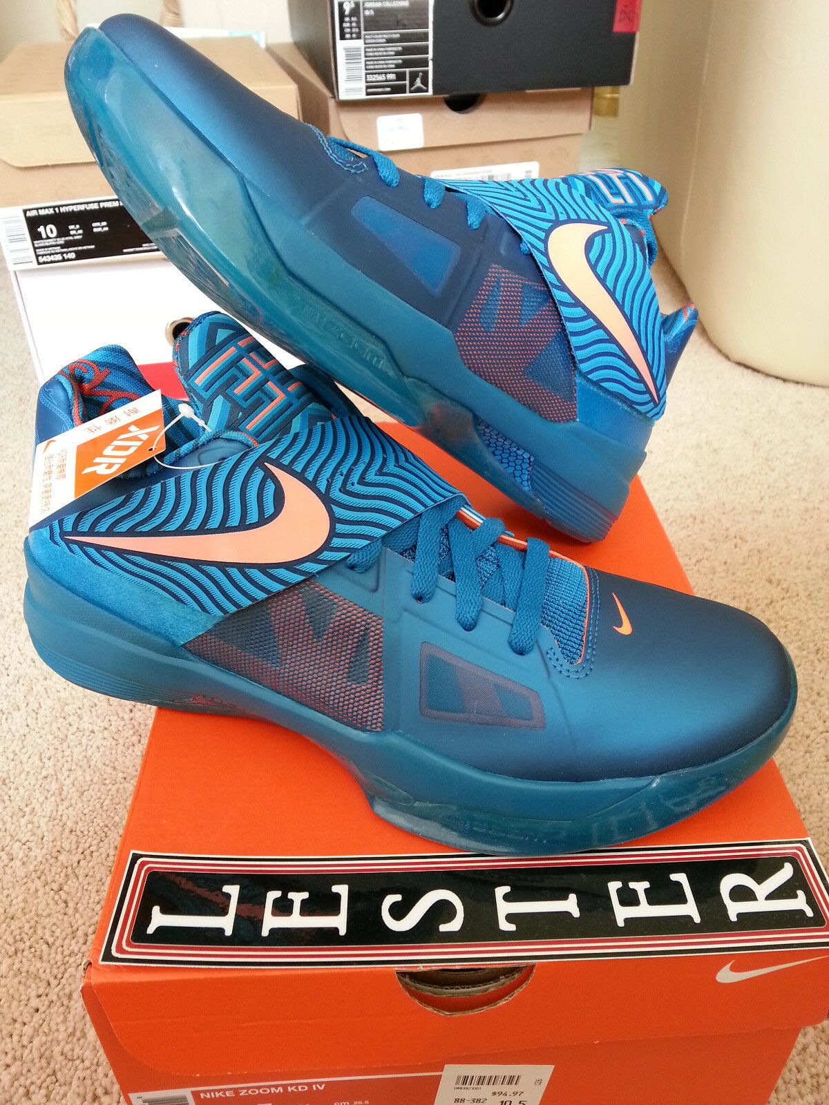 494d3102fda9 Nike Zoom KD 4 IV YOTD US 10 Kevin Durant illusion asg n7 QS air china nerf  1 of 7Only 1 available ...